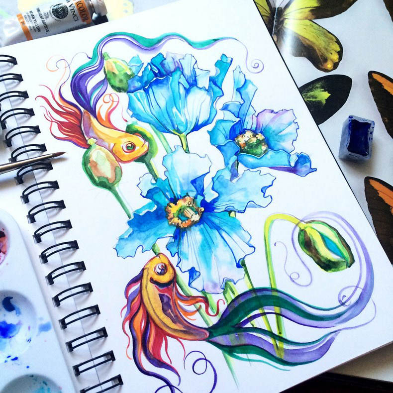 I-collect-colorful-creatures-in-my-sketchbook-vinegret (11)