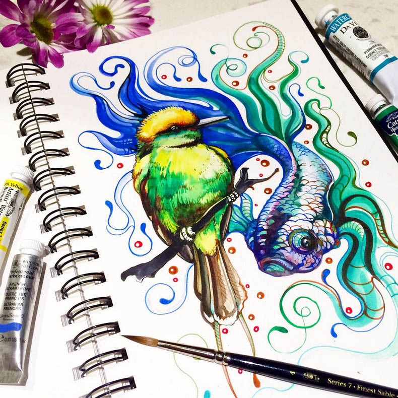 I-collect-colorful-creatures-in-my-sketchbook-vinegret (6)