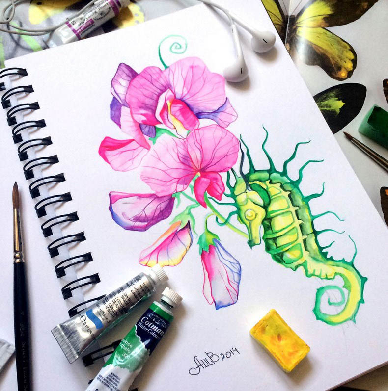I-collect-colorful-creatures-in-my-sketchbook-vinegret (7)