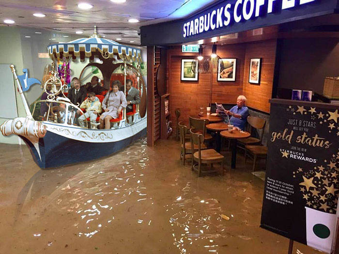 funny-starbucks-uncle-hong-kong-floods-photoshop-battle-vinegret-10